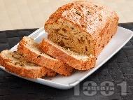 Рецепта Солен кекс с риба тон и кисели краставички (с кисело мляко и бакпулвер)